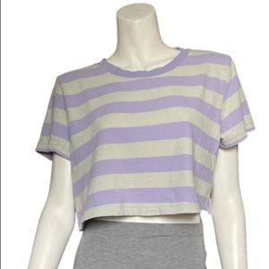 BDG Urban Outfitters Vintage Boxy Purple Crop Tee